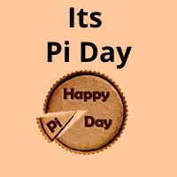 Yes, it's Pi Day